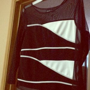 Classy mesh long sleeve crop top